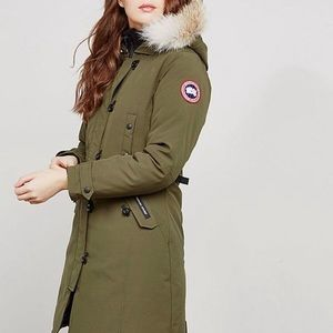 CANADA GOOSE   AUTHENTIC LONG ARMY GREEN PARKA
